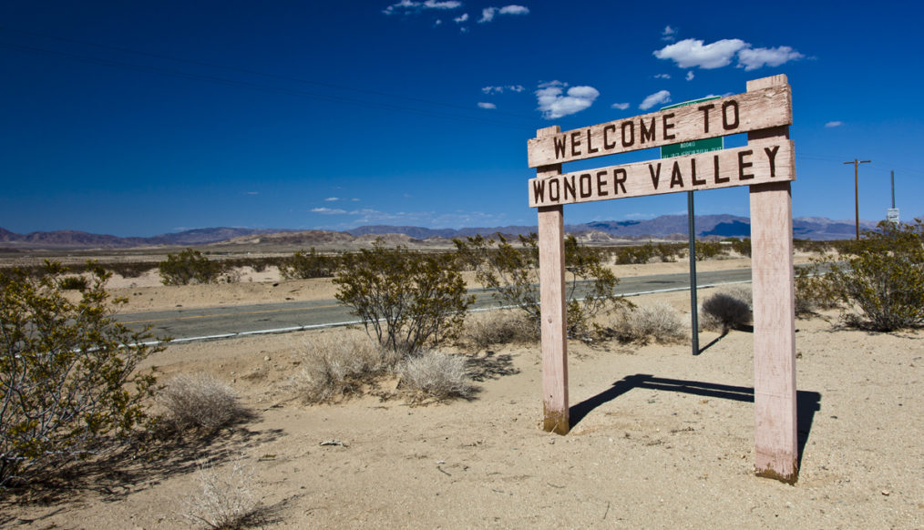 the famous Wonder Valley sign
